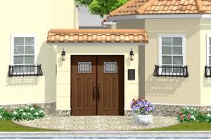 三世帯住宅ゲートやオートロック門