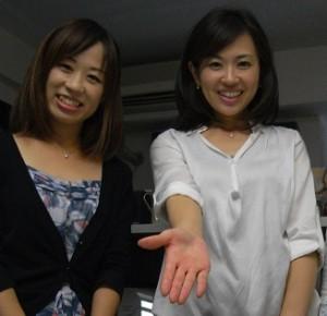 リポーターの上條麻理奈さんとNHK取材にて