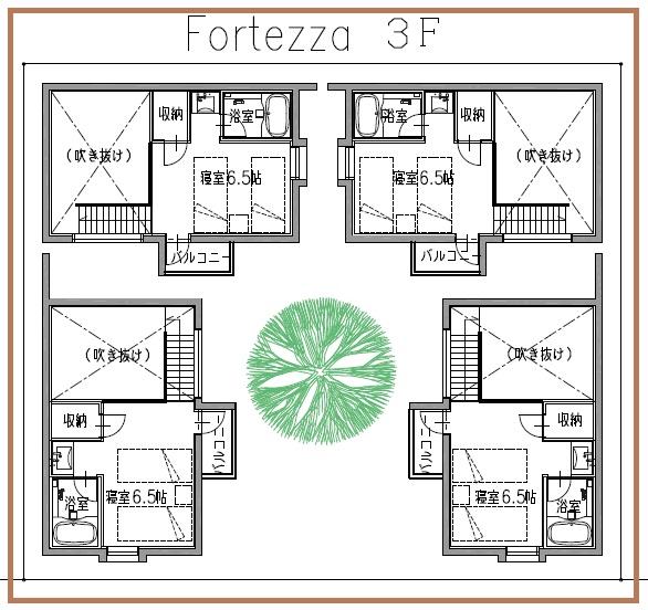 DINKS&単身者向け戸建てフォルテッツア3階