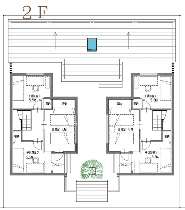 三世帯住宅四世帯住宅間取りプランファミリー2世帯で大家族2階