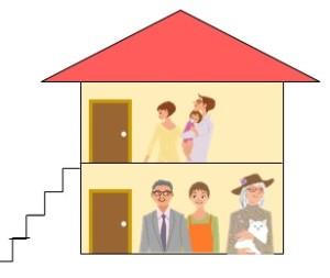 上下階の二世帯住宅のメリットとデメリット